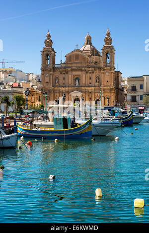 Church of Sultana tal-paci, St.. Joseph's, Msida Creek, Valletta, Malta - Stock Photo