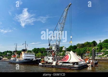 Museumshafen Övelgönne in Othmarschen, Hamburg, Deutschland, Europa - Stock Photo