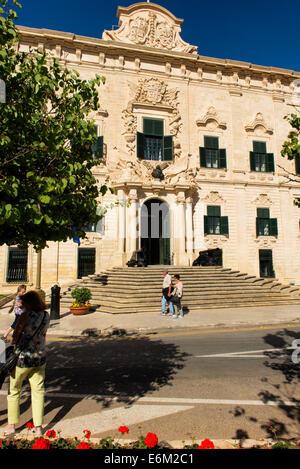Auberge de Castille, Valletta, Malta - Stock Photo