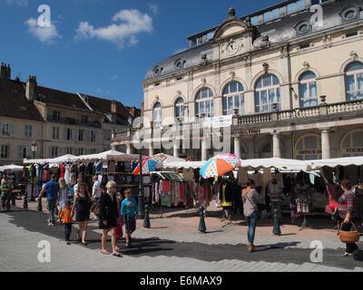 Market in Lons le Saunier, Jura, France