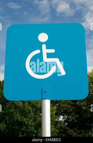 Disabled Parking Bay sign  Worcester Worcestershire England UK - Stock Photo