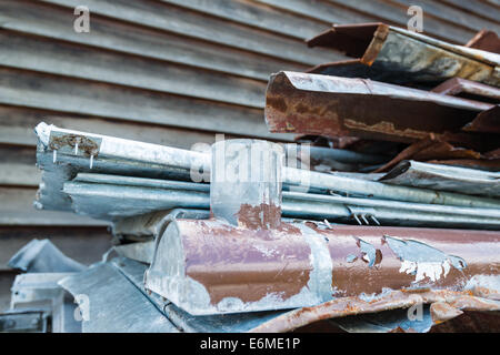 Scrap metal waste - Stock Photo