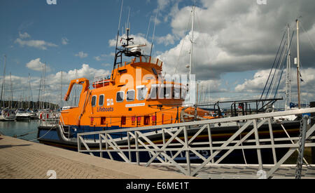 Yarmouth RNLI lifeboat, River Yar, Yarmouth, Isle of Wight, England, UK - Stock Photo