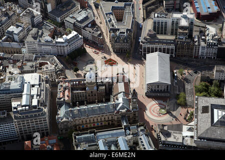 aerial view of Birmingham city centre, UK - Stock Photo