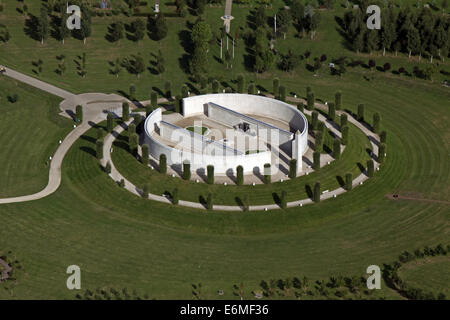 aerial view of the National Memorial Arboretum at Alrewas, Staffordshire, UK - Stock Photo