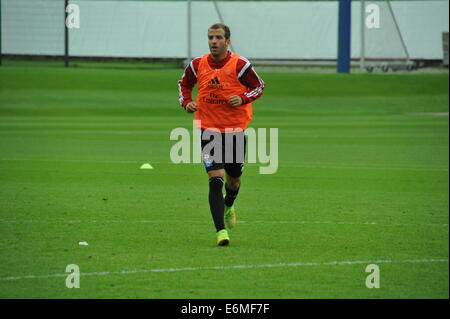 Rafael van der Vaart im HSV-Training, Hamburg, Deutschland. Editorial use only. - Stock Photo