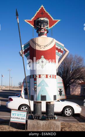 Mrytle the Kachina Doll in Elk City Oklahoma - Stock Photo