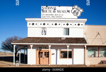 National Route 66 Museum in Elk City Oklahoma - Stock Photo