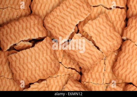 Broken cookies background. - Stock Photo