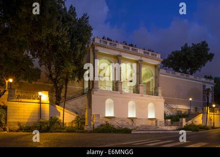 Pincio terrace, Rome, Lazio, Italy - Stock Photo