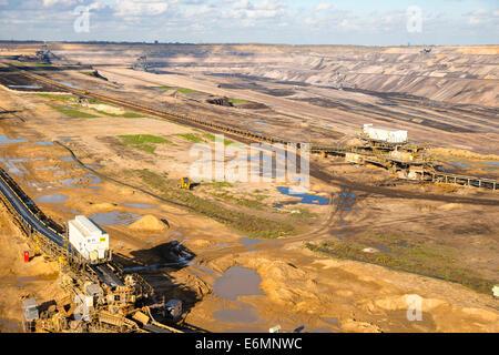 Tagebau Hambach surface mine, North Rhine-Westphalia, Germany - Stock Photo