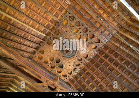 Convent Madre de Dios del Vado - year 1587 - coffered ceiling, Gibraleon, Huelva province, Region of Andalusia, - Stock Photo