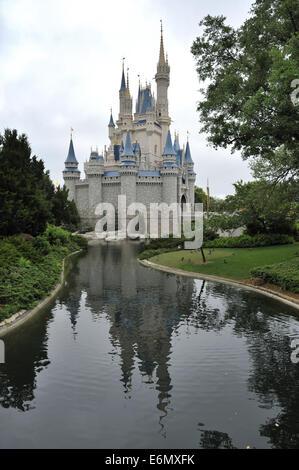 Cinderella Castle, Magic Kingdom Park, Walt Disney World, Orlando, Florida - Stock Photo