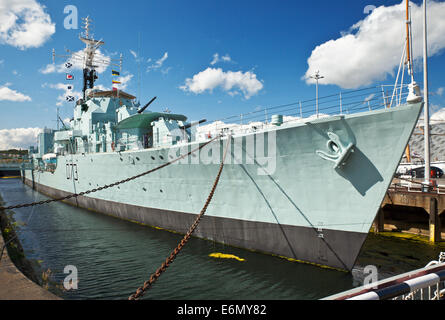 HMS Cavalier. The Royal Navy s last operational Second World War destroyer, at Chatham Historic Dockyard. - Stock Photo