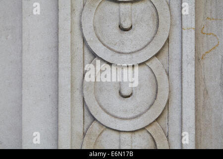 London textures, typical grey stone, patterned. - Stock Photo
