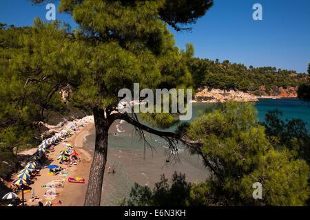 Chrisi Milia beach in Alonnisos, Greece on August 2014. - Stock Photo
