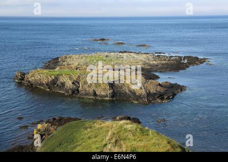 niarbyl on the south west coast of the isle of man - Stock Photo