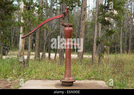 Old fashiioned water pump, Sawtooth National Forest, Idaho. - Stock Photo