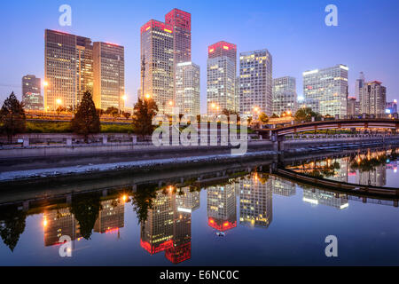 Beijing, China CBD city skyline. - Stock Photo