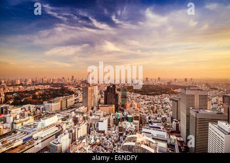 Tokyo, Japan city skyline at Shinjuku District. - Stock Photo
