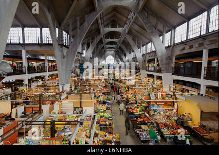 Covered Market (Hala Targowa) in Wroclaw, Poland, Europe - Stock Photo