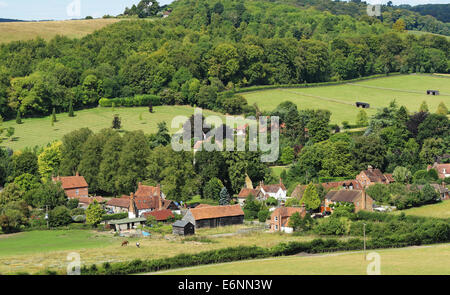 The Hamlet of Fingest in the Chiltern Hills in Buckinghamshire - Stock Photo