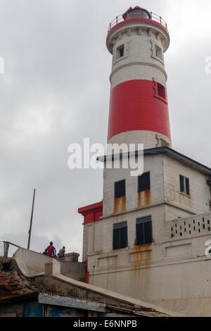 Jamestown lighthouse, Accra, Ghana, Africa - Stock Photo