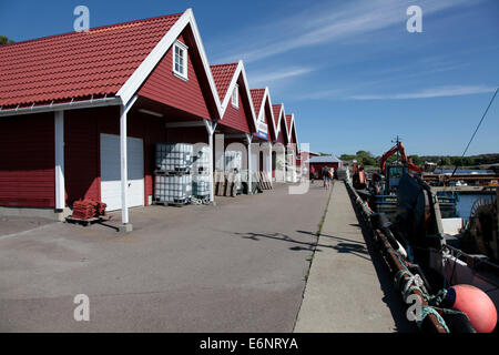 Fishing port and marina at Verdens Ende. The Norwegian end of the world - or 'Verdens Ende' - is located in the - Stock Photo