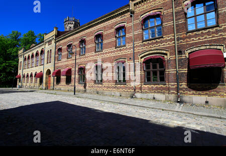 Det Nye Radhus (New Town Hall) in the fortress town Gamlebyen. It use was passed in 1864. The building now houses - Stock Photo