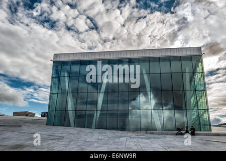 The Royal National Opera House in Oslo, Norway - Stock Photo