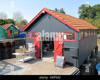 (FILE) - An archive picture, dated 29 August 2013, shows colourful painted fishing hut which serve as artist's studio - Stock Photo