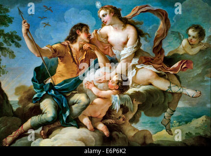 Venus and Adonis or Aurora and Cephalus by Charles Joseph Natoire 1700-1777  France French - Stock Photo