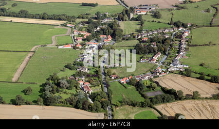 aerial view of Manfield village, North Yorkshire, 3.5 miles of Darlington, UK - Stock Photo
