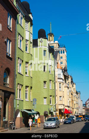 Lönnrotinkatu street, Kamppi district, central Helsinki, Finland, Europe - Stock Photo