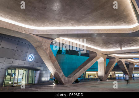 Modern architecture at the newly opened Dongdaemun Design Plaza in Seoul, South Korea, designed by architect, Zaha - Stock Photo