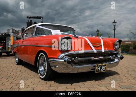 Vintage American Chevrolet Car on display at Summerlee Museum Coatbridge. - Stock Photo