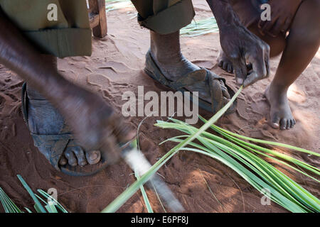 Crafts made in Mukuni Village. Mukuni Village is a Royal village which was founded around the 13th Century. It is - Stock Photo