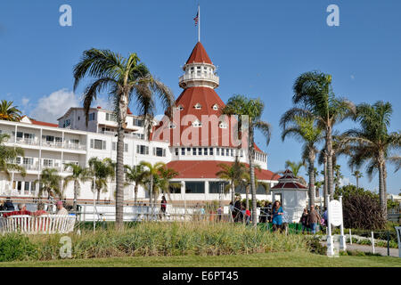 Historic Hotel del Coronado, built in 1888, San Diego, California, USA - Stock Photo