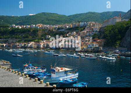 Port of Scilla, Costa Viola, Calabria, Italy - Stock Photo