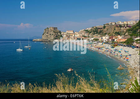 Beach, Scilla, Costa Viola, Calabria, Italy - Stock Photo