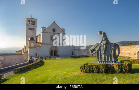Basilica of San Francesco d'Assisi, Assisi, Italy - Stock Photo