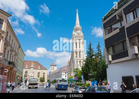 Matthias Church at Buda Castle in Budapest, Hungary - Stock Photo