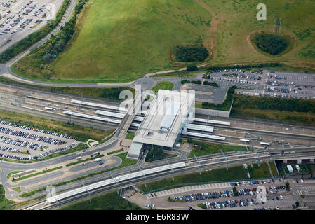 Ebbsfleet Railway Station, on the HS1 route from London to Ashford and Europe, Kent, South East England - Stock Photo