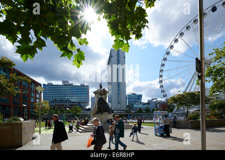 Piccadilly Gardens Manchester city centre, North West England - Stock Photo