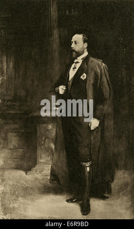 Edward VII (Albert Edward; 9 November 1841 - 6 May 1910) was King of the United Kingdom and the British Dominions. - Stock Photo