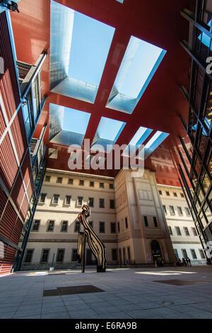 Museo Nacional Centro de Arte Reina Sofia, Madrid, Comunidad de Madrid, Spain - Stock Photo