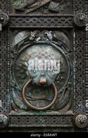 Detail from the main doors of St Petri Dom, Bremen, Germany. - Stock Photo