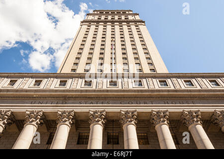 United States Court House, 40 Centre Street, Foley Square, Manhattan, New York City, New York, USA - Stock Photo