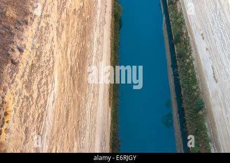 The Corinth Canal in Greece. - Stock Photo