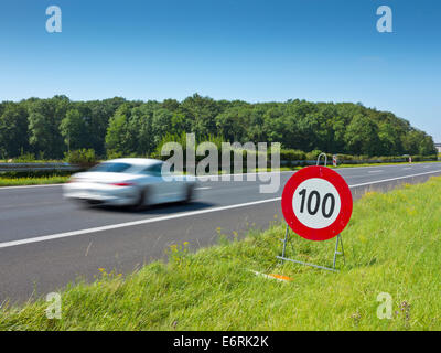 Speeding on the motorway - Stock Photo